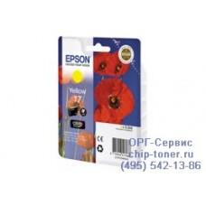 Картридж желтый Epson 17 ,оригинальный