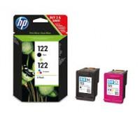 Комплект картриджей HP 122 (черный и цветной картриджи) оригинальный