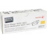 Картридж 106R02762 желтый для Xerox Phaser 6020 / 6022 ,WorkCentre 6025 / 6027 оригинальный